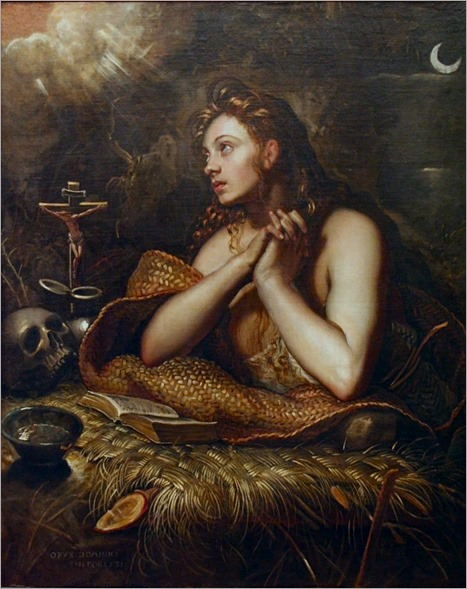 The Penitent Magdalene (c.1598). Domenico Tintoretto (Italian, 1560-1635)