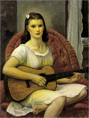 The Young Guitarist (1961-1962). Abraham Leon Kroll (American, 1884–1974)
