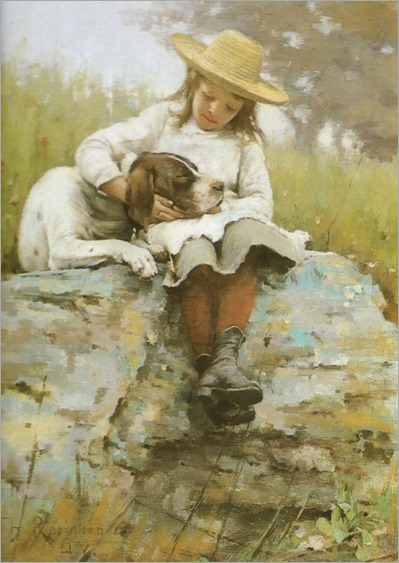 Theodore Robinson_(american 1852-1896)-the girl with the dog_568x800