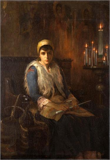 Theodoros Ralli (greek painter)-an offertory candle