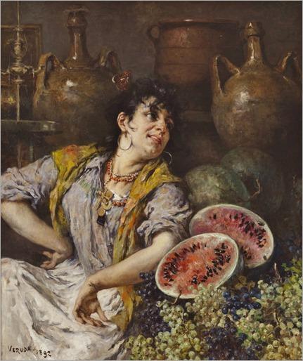 Umberto Veruda_Venetian Fruit Seller