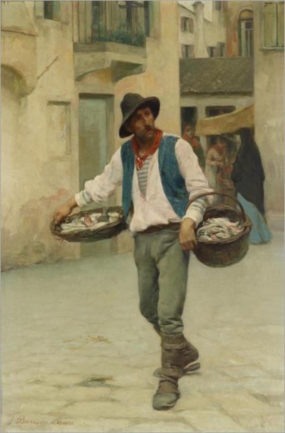 Venetian Fish Seller-Giuseppe Barison (Trieste-1853-1906)_527x800