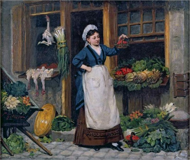 Victor Gabriel Gilbert (french 1847-1933)_The_Fruit_Seller