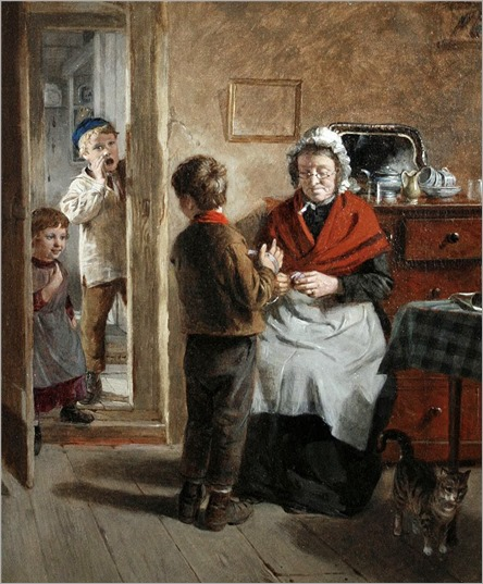 William Hemsley(1819-1893) - Divided Attention