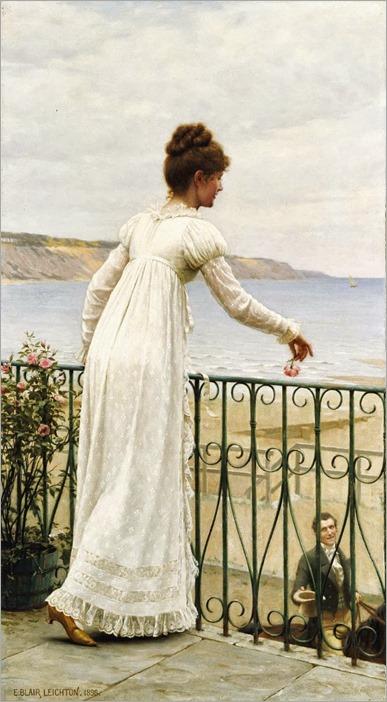 A favour-Edmund Blair Leighton (British, 1852-1922)