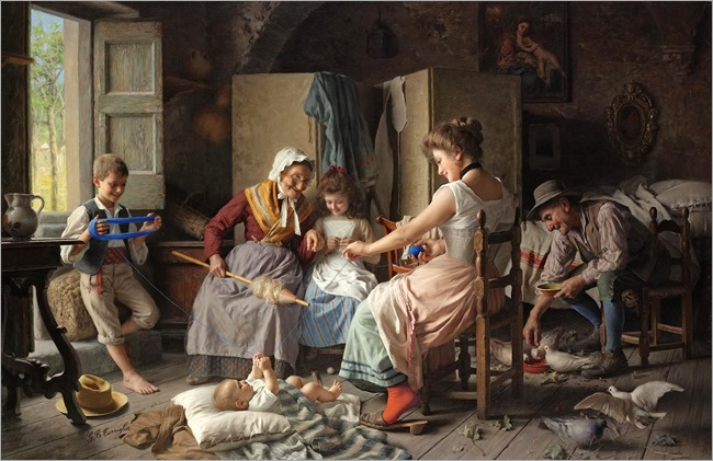 a happy family-Giovanni Battista Torriglia