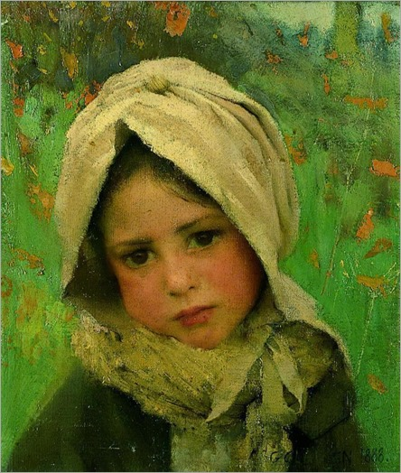 A little child, 1888-George Clausen