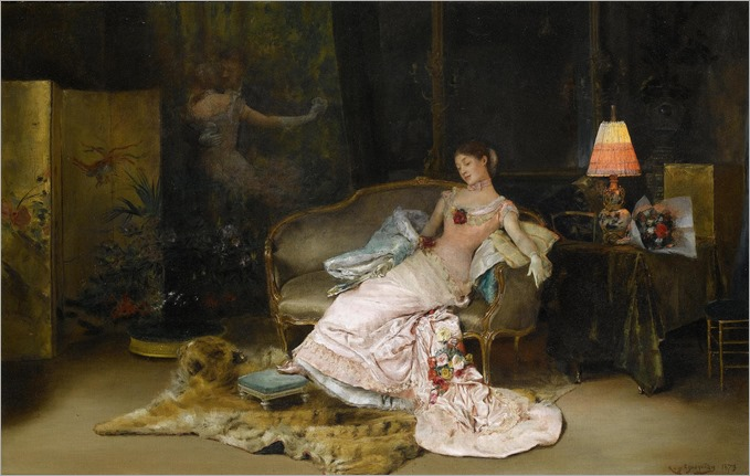 A Reverie During the Ball - Rogelio de Egusquiza-1879