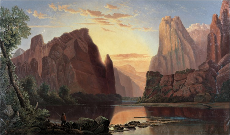 Alfred Edward Lambourne - Temples of the Rio Virgin, Southern Utah 1876