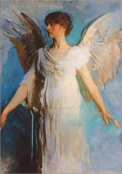 Angel -1893-Abbott Handerson Thayer (american painter)