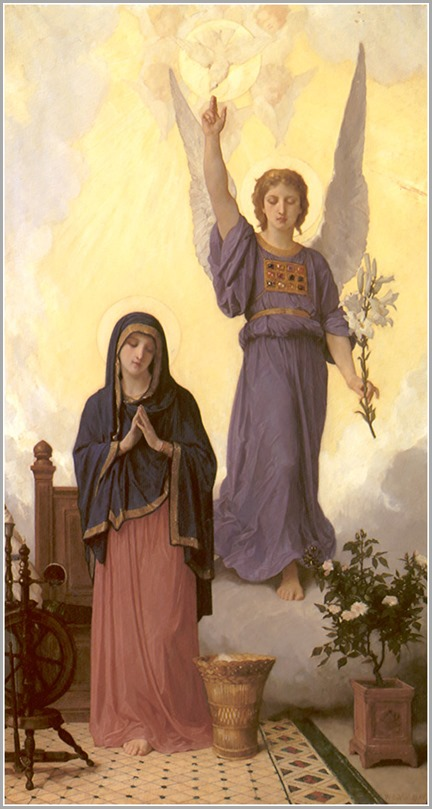 Annunciation by William-Adolphe Bouguereau