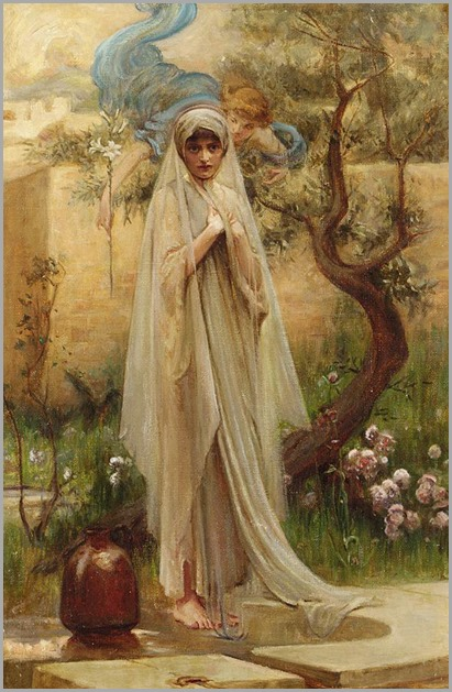 Attributed to Arthur Hacker (1858 - 1919) - The annunciation
