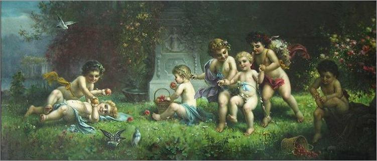 cherubs at play-Hans Zatzka (austrian,1859-1945)