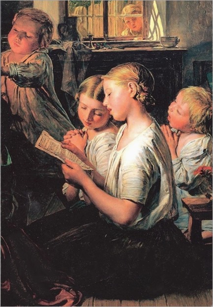 children singing and praying-FGWaldmuller_530x768