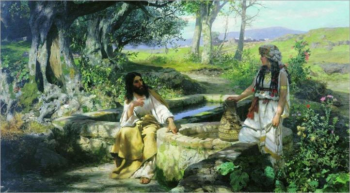 Christ and samaritan-Hendryk Siemiradzki - 1890