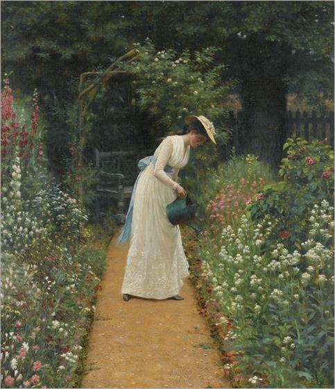 Edmund Blair-Leighton (1853-1922) - MY LADY'S GARDEN