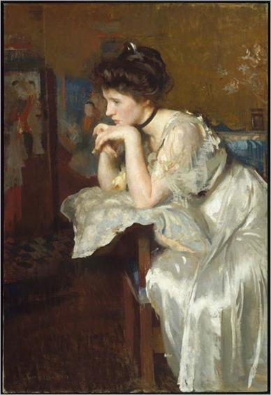 Edmund Charles Tarbell -Reverie (Katharine Finn) - 1913