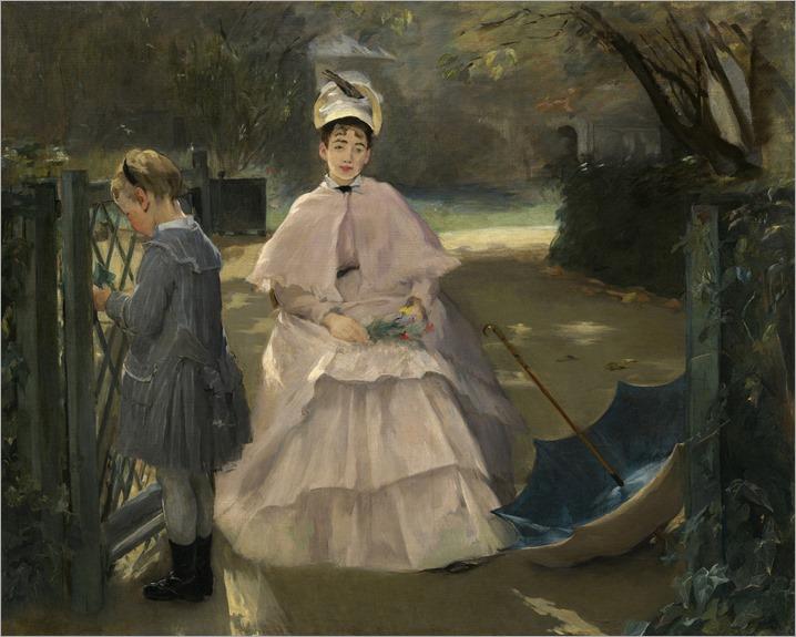 Eva Gonzalès - Nanny and Child 1877-78