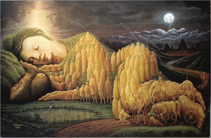 Evolucion-de-Buda -Octavio Ocampo, Siddartha, 2012