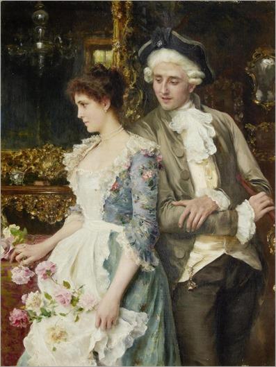 Federico Andreotti (Italian, 1847-1930) - Flirtation