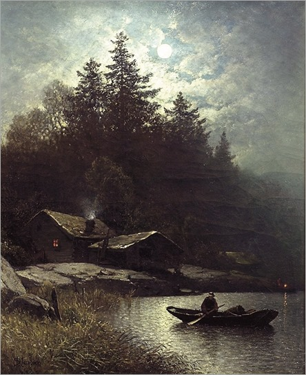 Fisherman in the Moonlight - Sophus Jacobsen