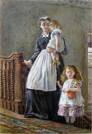 George Goodwin Kilburne - Governess with Two Girls 1873