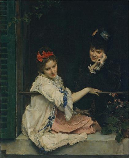 Girls at a Window-Raimundo de Madrazo Y Garreta