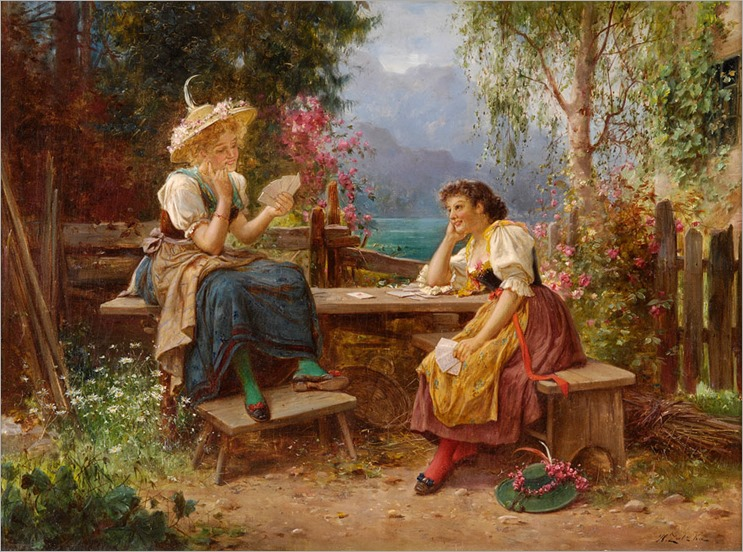 Hans Zatzka - The Card Players.
