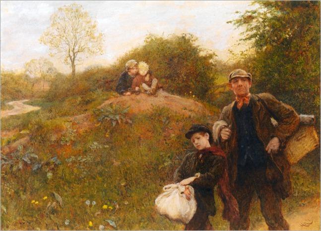 Hubert von Herkomer (british, 1849-1914)- A Weary Way 1891