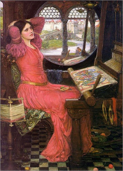 I am Half-Sick of Shadows, Said the Lady of Shalott (1916). John William Waterhouse (1849–1917)