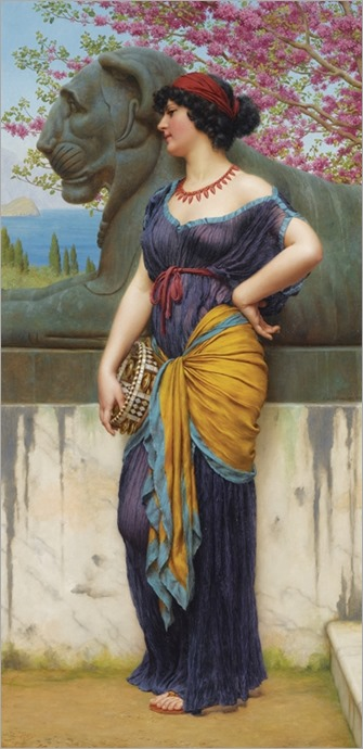 IN THE GROVE OF THE TEMPLE OF ISIS - John William Godward (english, 1861-1922)