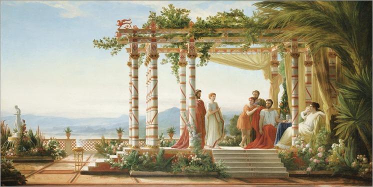 JEAN ALAUX, DIT LE ROMAIN (french, 1786-1864)-Sous la tonnelle