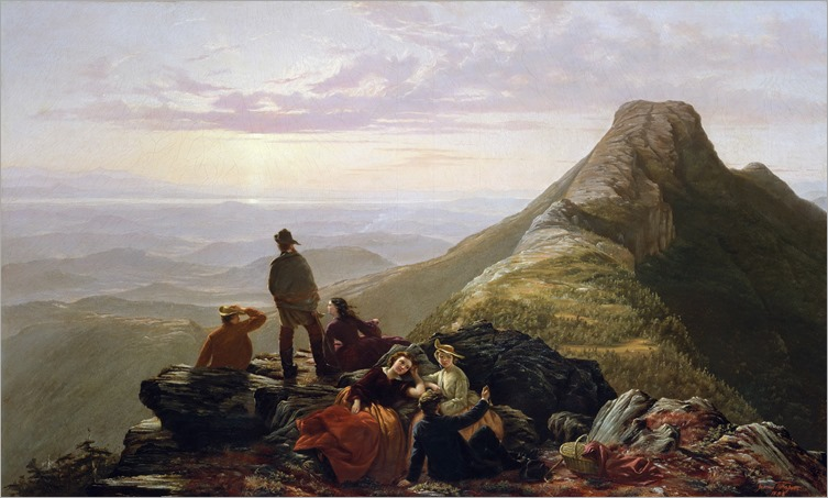 Jerome Thompson_The Belated Party on Mansfield Mountain-1858