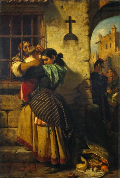 John Phillip (1817-1867)- The Prison Window 1857