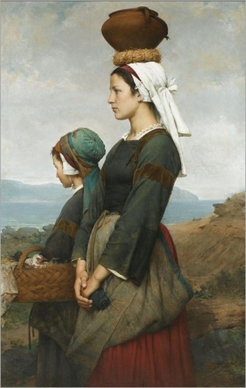 Le chemin du Marche, Finistere - Emile Auguste-Hublin (french painter)