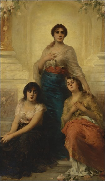 Nathaniel Sichel (1843 - 1907) - Three beauties