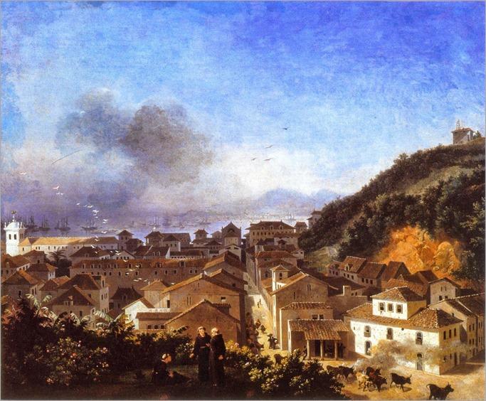 Nicolas-Antoine Taunay - Largo da Carioca, Rio de Janeiro, Brazil 1816