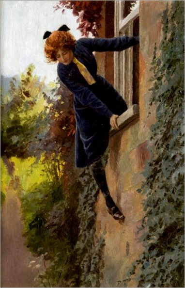 Percy Tarrant (British, 1883-1904)- Leaving by the Window