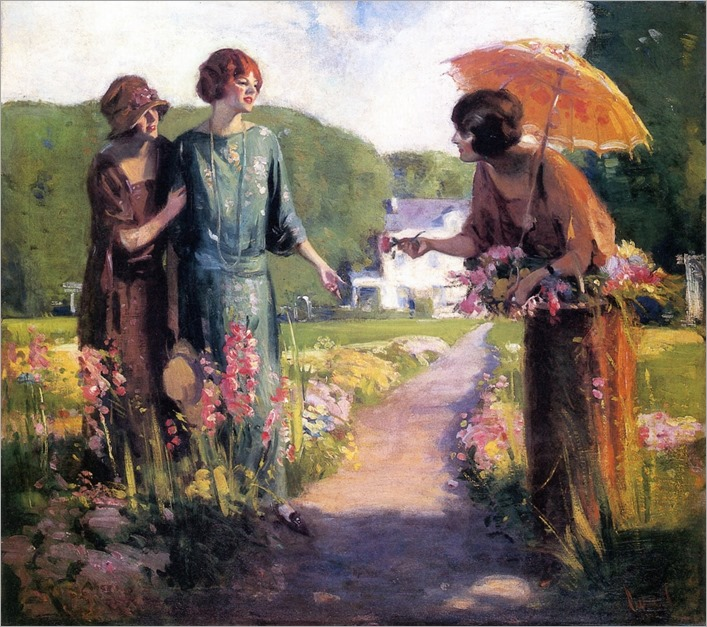 Picking Flowers by Edward Cucuel (american, 1875-1954)