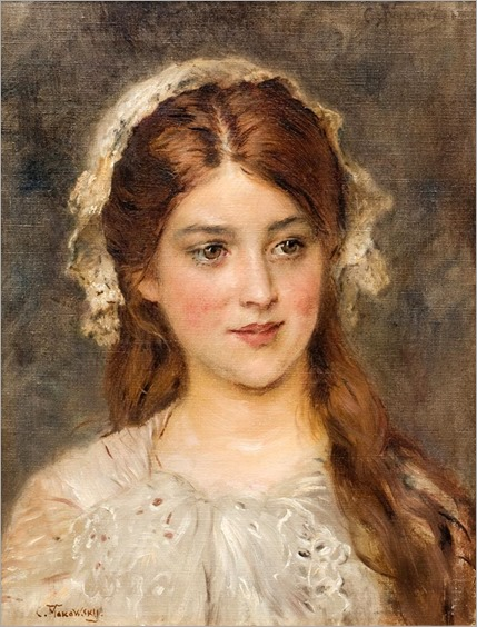 Portrait of a Young Girl - Konstantin Makovsky (russian painter) (2)