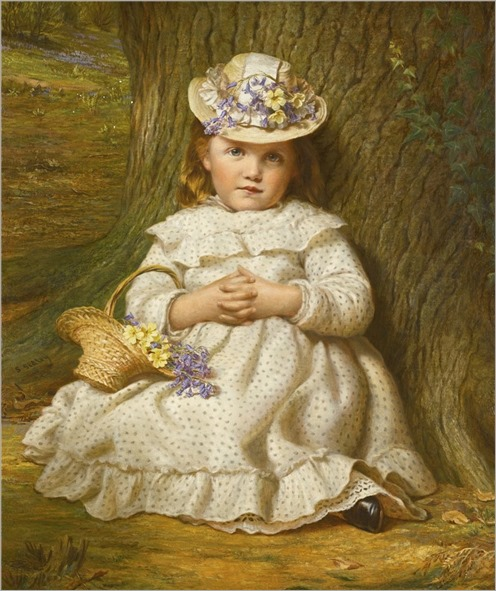 Primroses and bluebells - Samuel Sidley (british, 1829-1896)