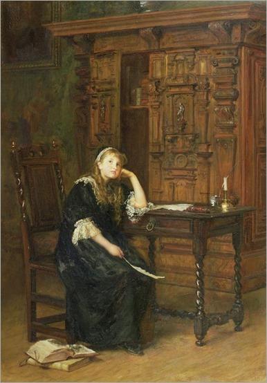 Princess Elizabeth in Prison, 1690- John Everett Millais 1879