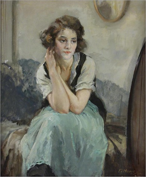 Reverie -1937- Francis Edwin Hodge (british painter)