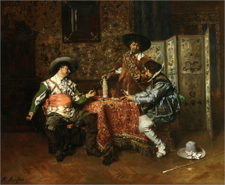 Roybet_Ferdinand_Victor_Leon_A_Game_Of_Cards