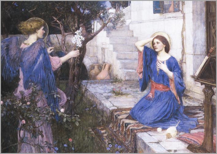 The Annunciation, 1914-John-William-Waterhouse(British, 1849-1917)