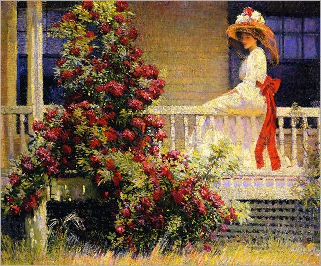 The Crimson Rambler - Phillip Leslie Hale (american painter)