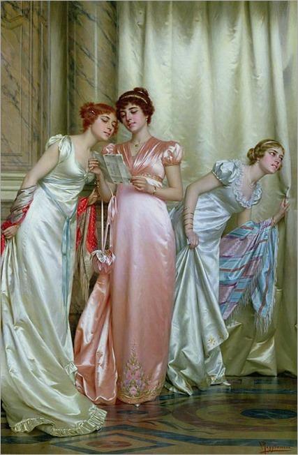 The Letter (oil on canvas), Reggianini, Vittorio (1858-1938)