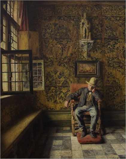 The Man in the Chair -1876- Henri de Braekeleer (belgian painter)