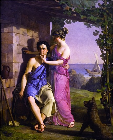 the-origin-of-painting-Heinrich Eddelien - 1830