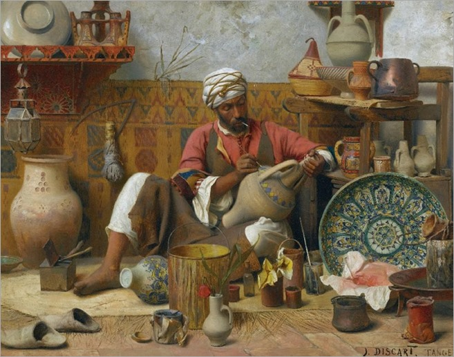 The Pottery Workshop - Jean Discart (french painter)